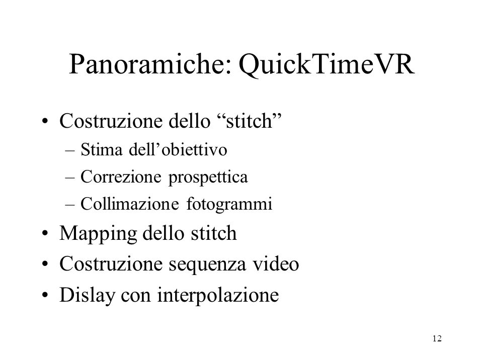 Panoramiche: QuickTimeVR