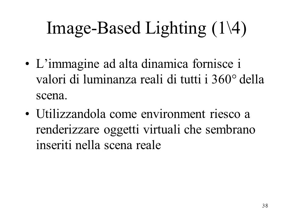Image-Based Lighting (1\4)