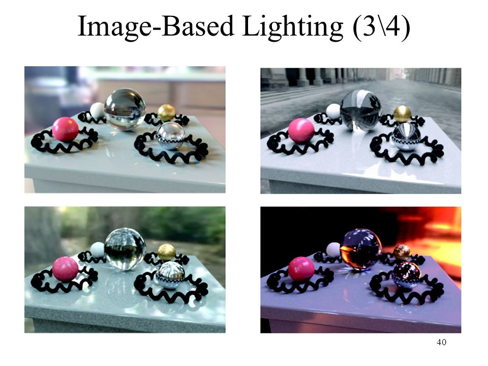 Image-Based Lighting (3\4)