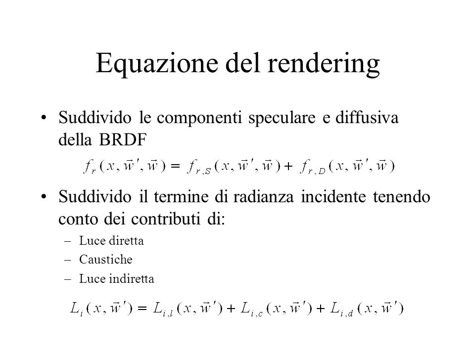Equazione del rendering