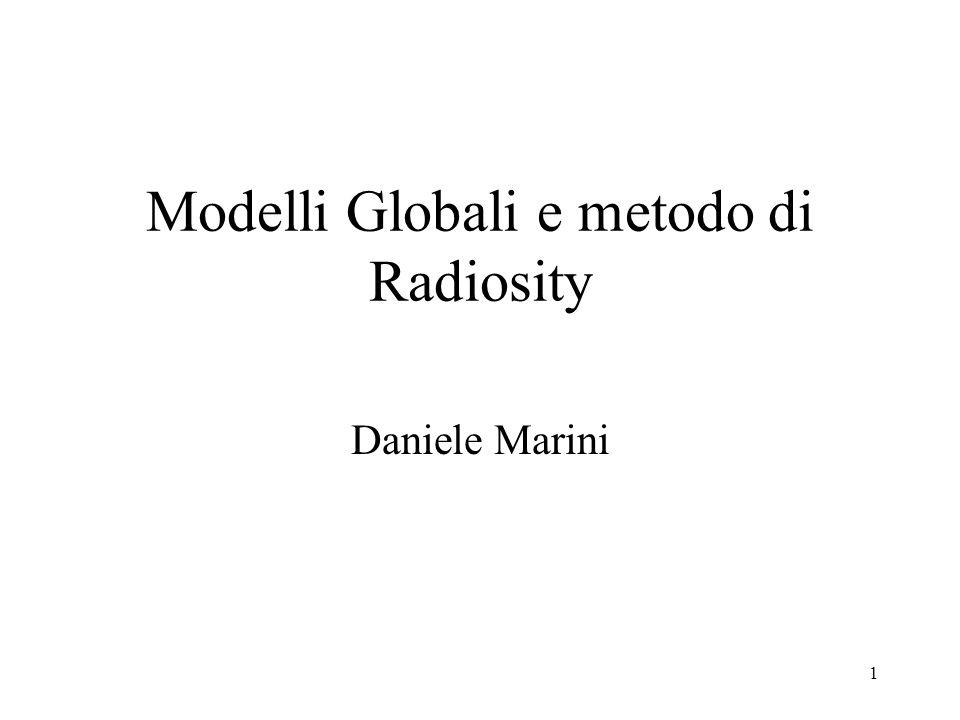 Modelli Globali e metodo di Radiosity