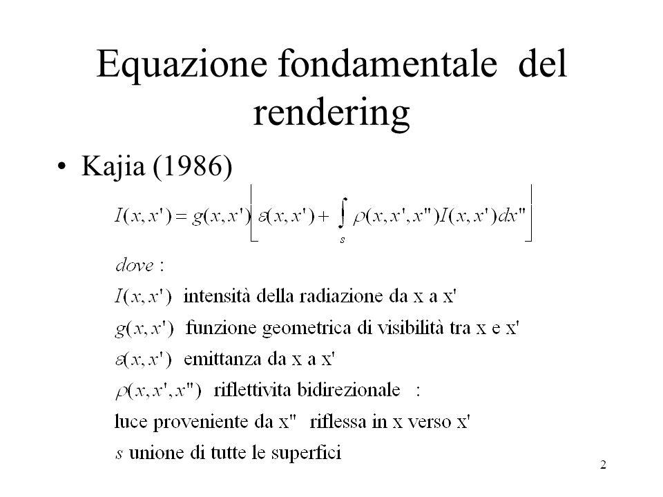 Equazione fondamentale del rendering
