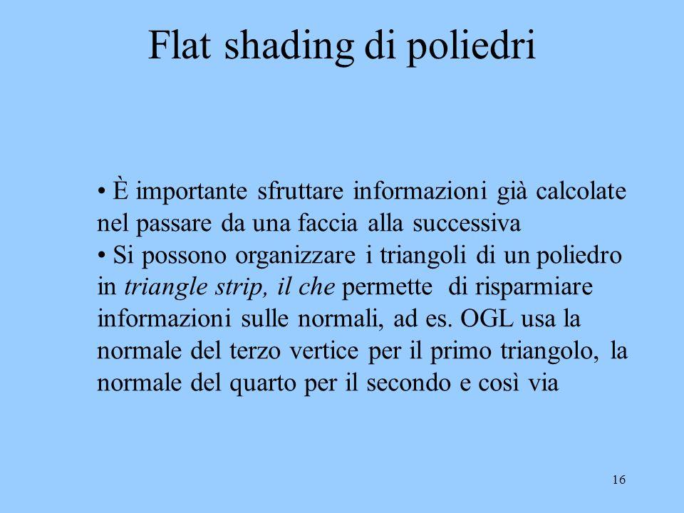 Flat shading di poliedri
