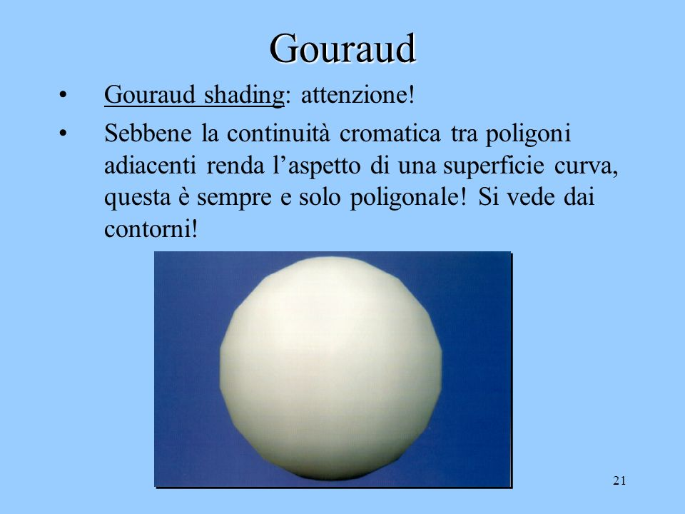 Gouraud Gouraud shading: attenzione!