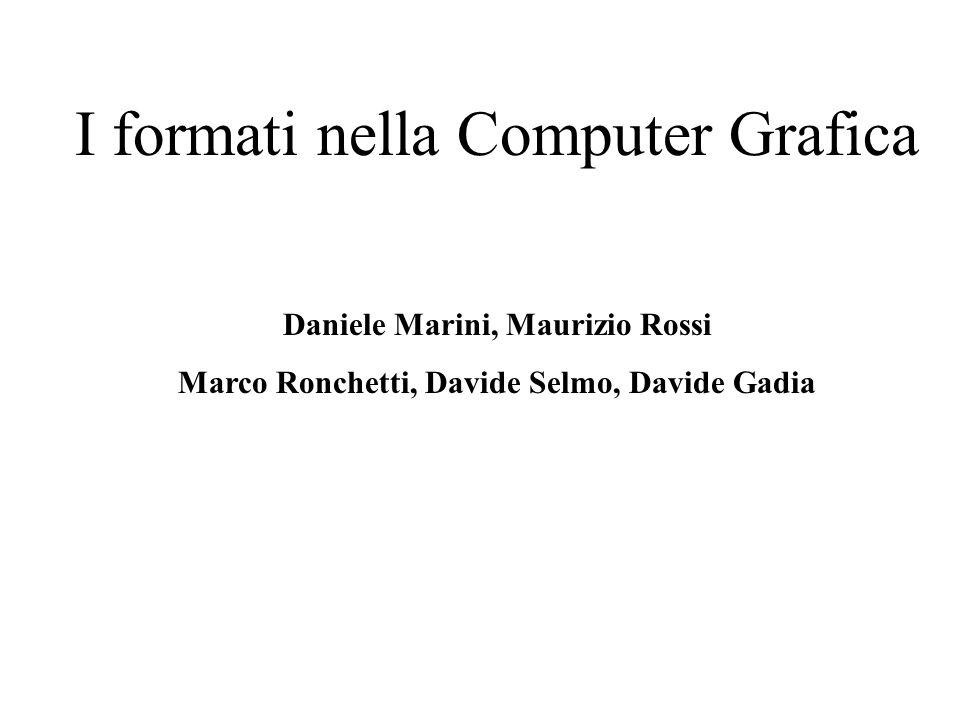 I formati nella Computer Grafica