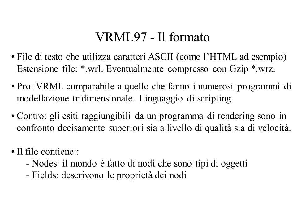 VRML97 - Il formato