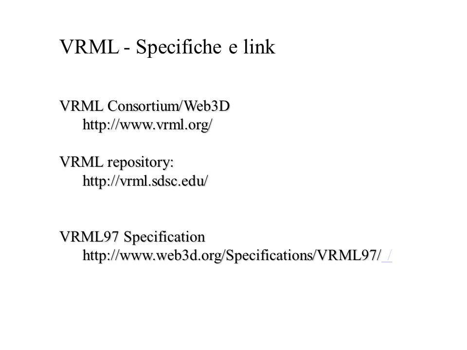 VRML - Specifiche e link