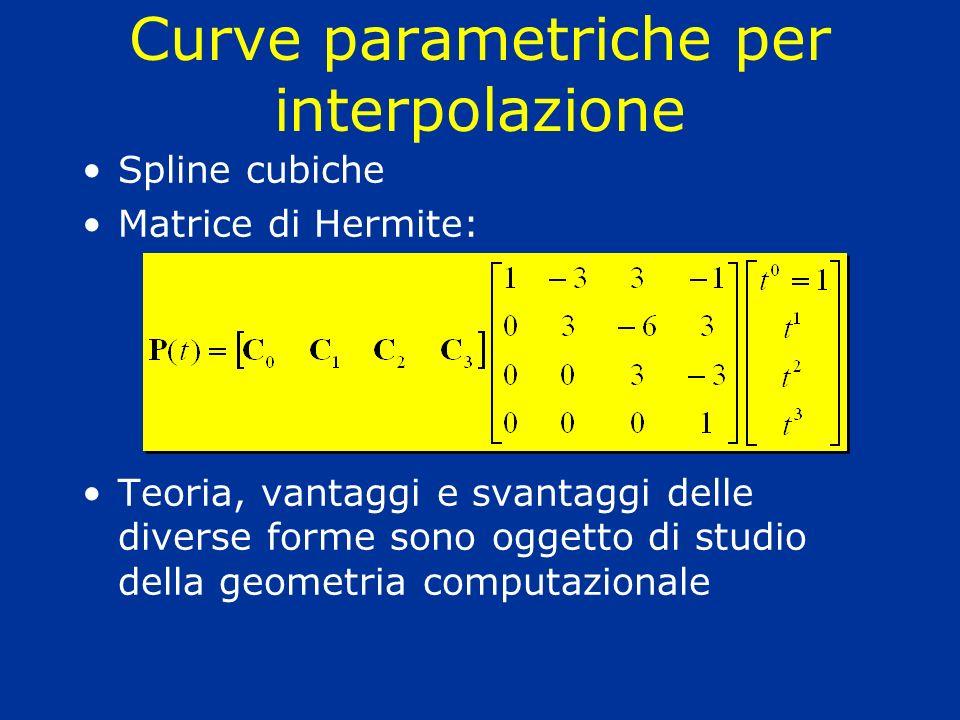 Curve parametriche per interpolazione