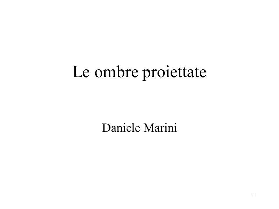 Le ombre proiettate Daniele Marini