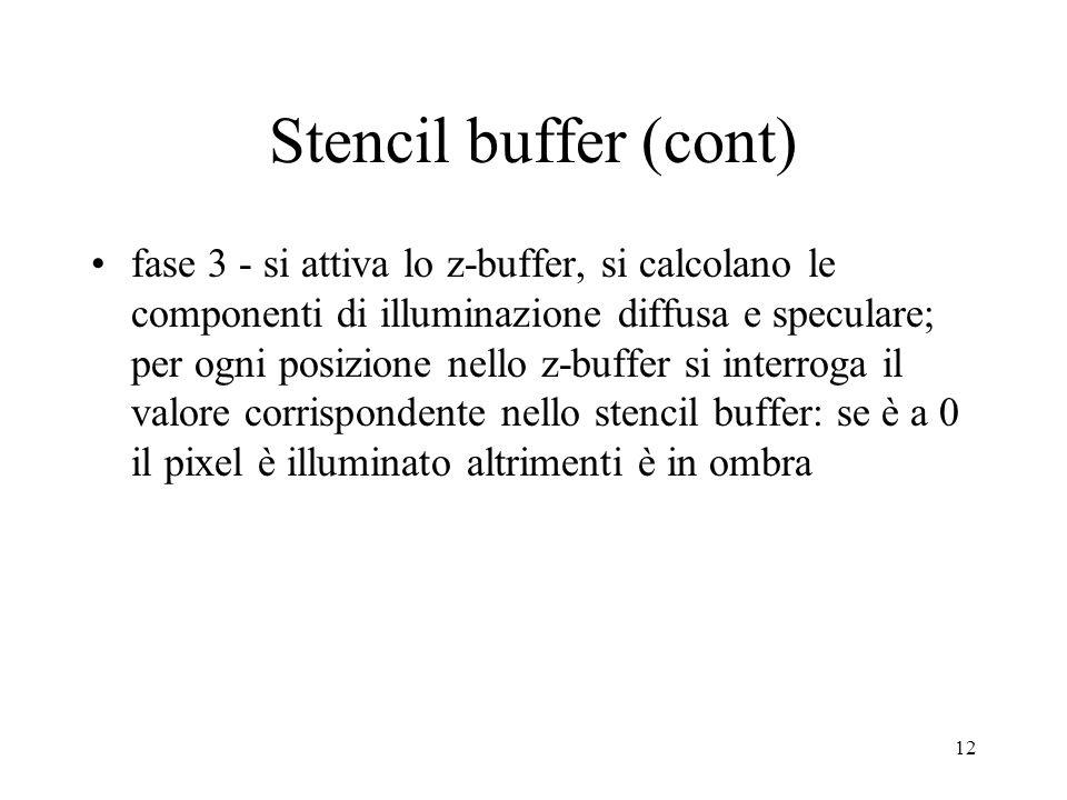 Stencil buffer (cont)