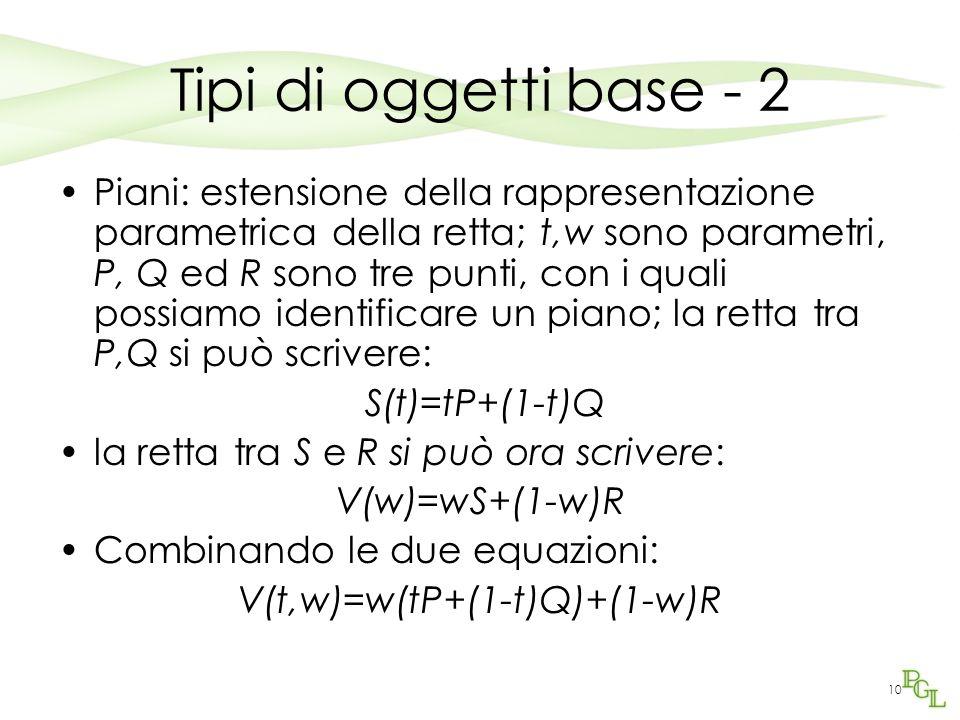 V(t,w)=w(tP+(1-t)Q)+(1-w)R
