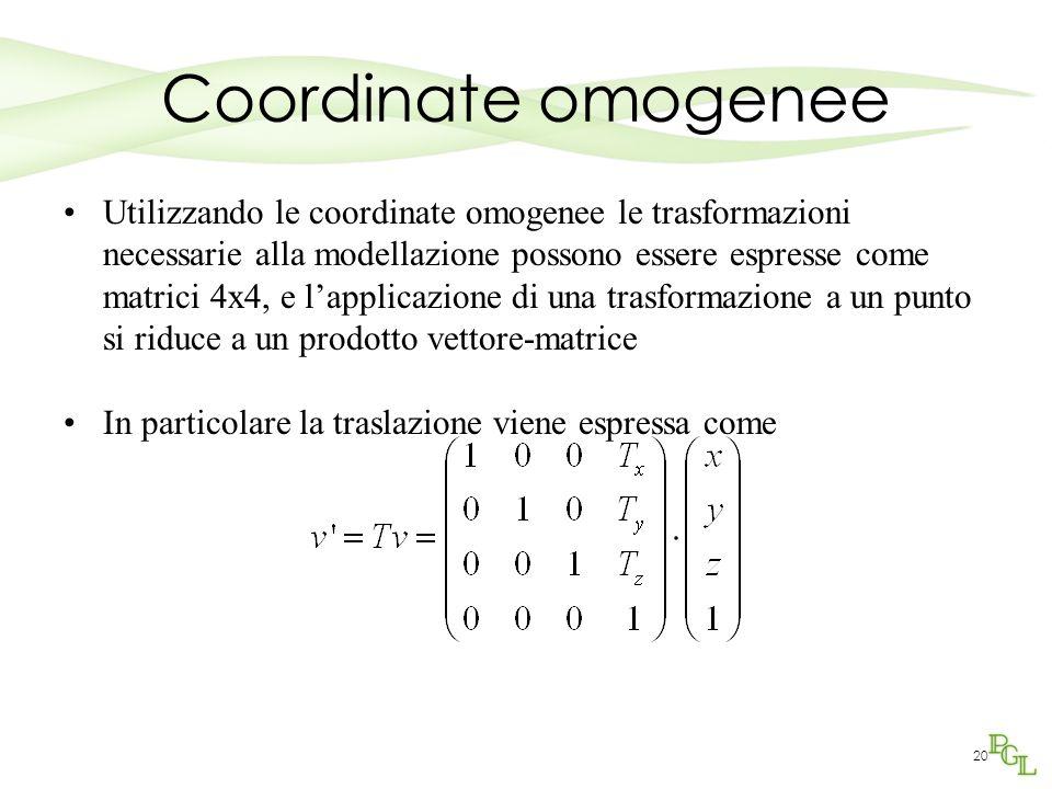 Coordinate omogenee