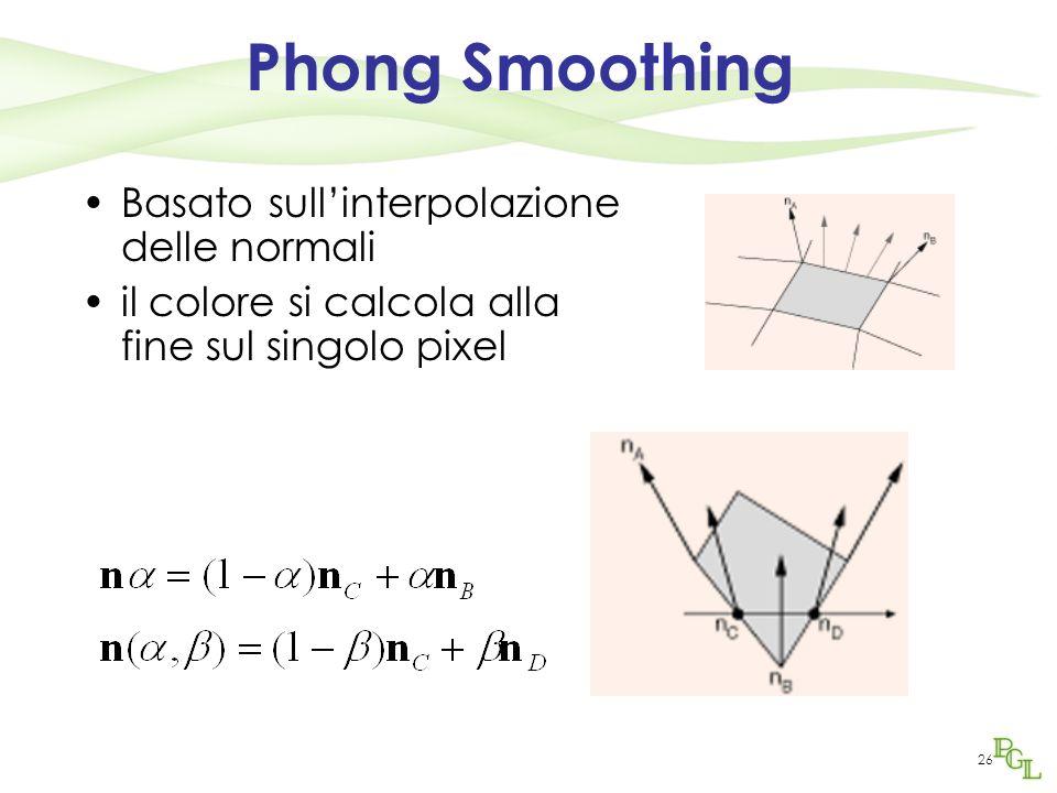 Phong Smoothing Basato sull'interpolazione delle normali