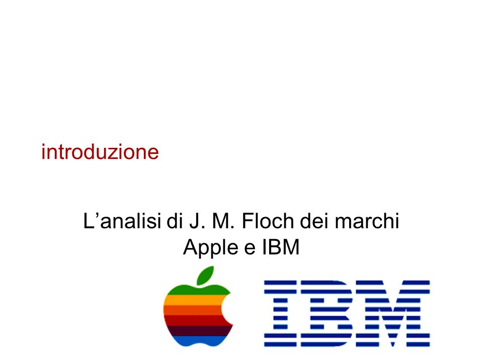 L'analisi di J. M. Floch dei marchi Apple e IBM