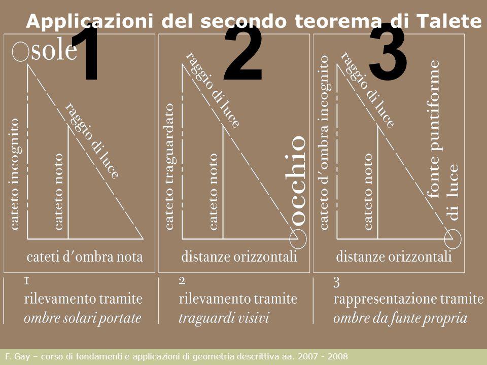 Applicazioni del secondo teorema di Talete