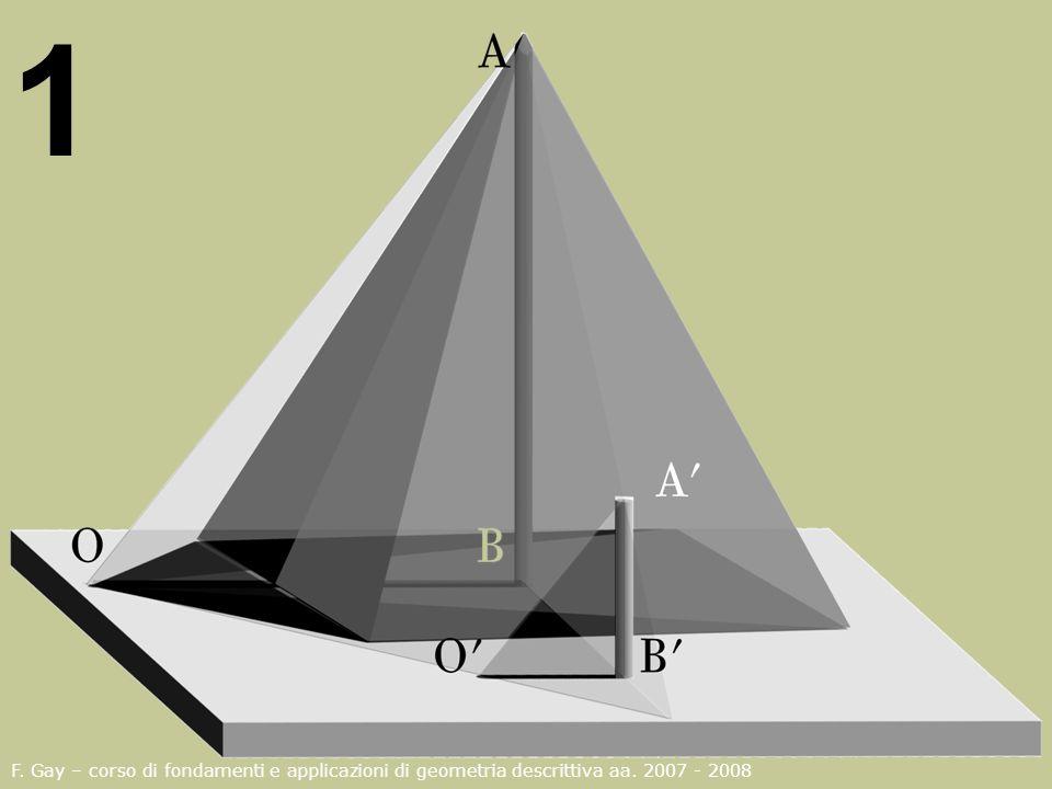 1 F. Gay – corso di fondamenti e applicazioni di geometria descrittiva aa. 2007 - 2008