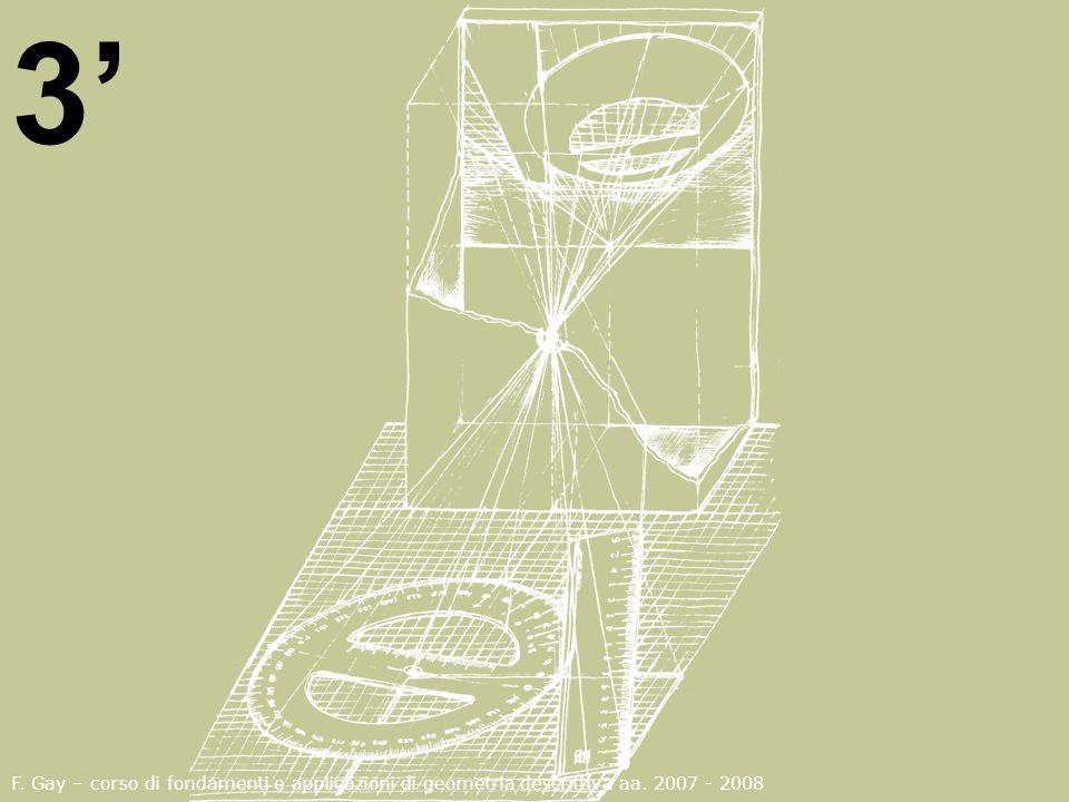 3' F. Gay – corso di fondamenti e applicazioni di geometria descrittiva aa. 2007 - 2008