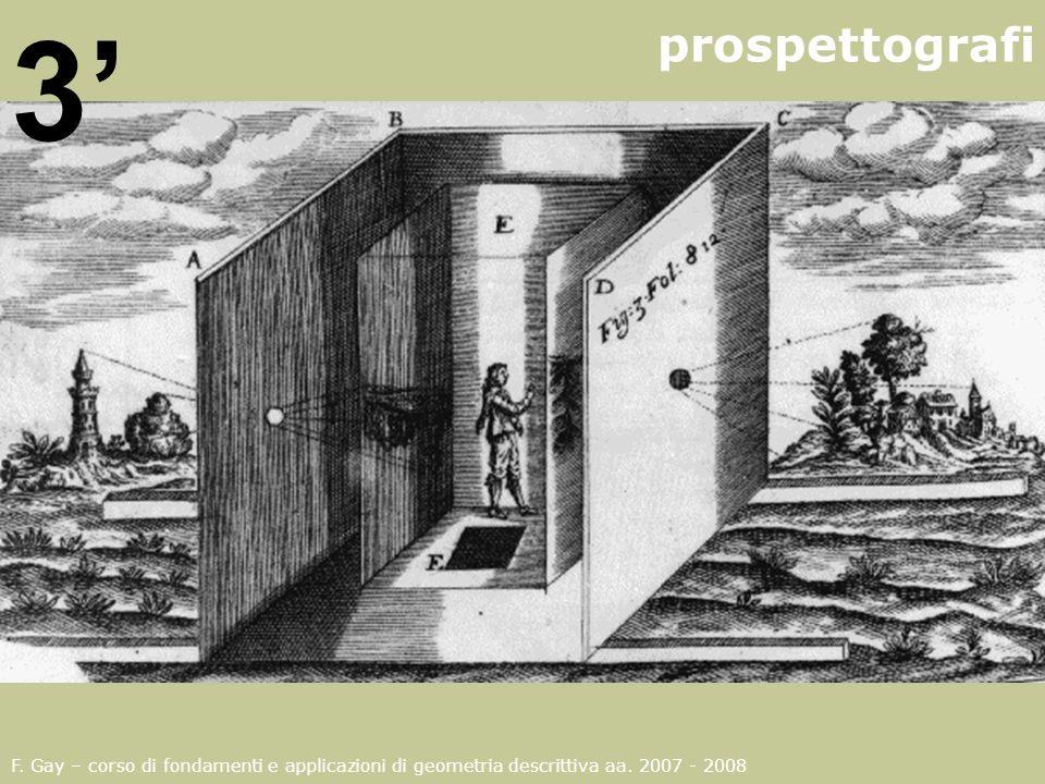 prospettografi 3' F. Gay – corso di fondamenti e applicazioni di geometria descrittiva aa.