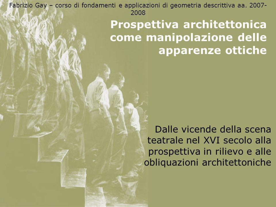Prospettiva architettonica come manipolazione delle apparenze ottiche