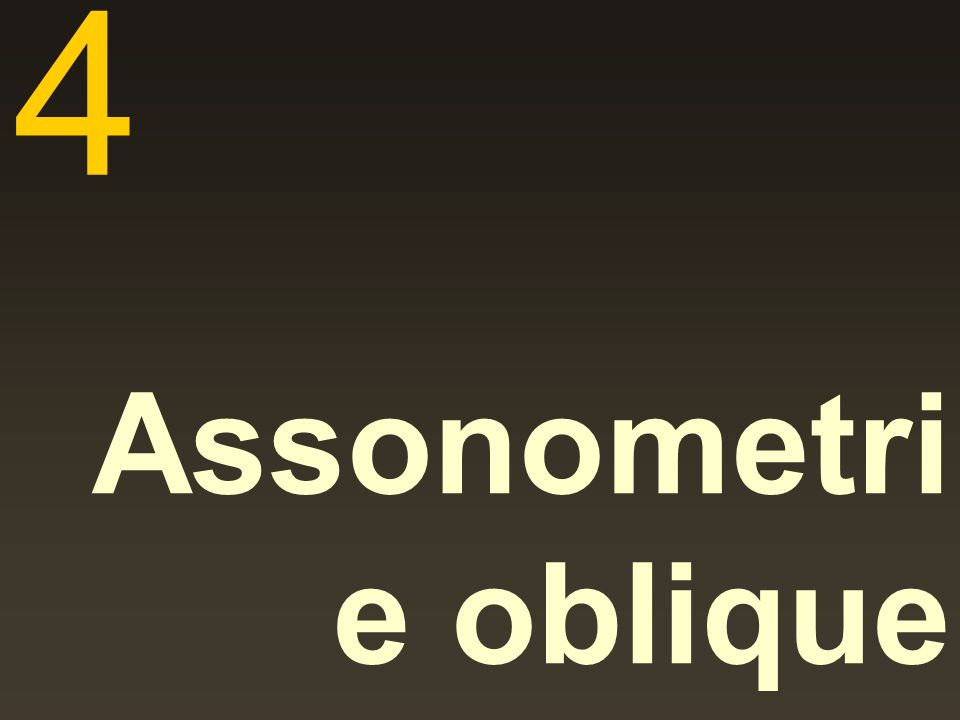 4 Assonometrie oblique