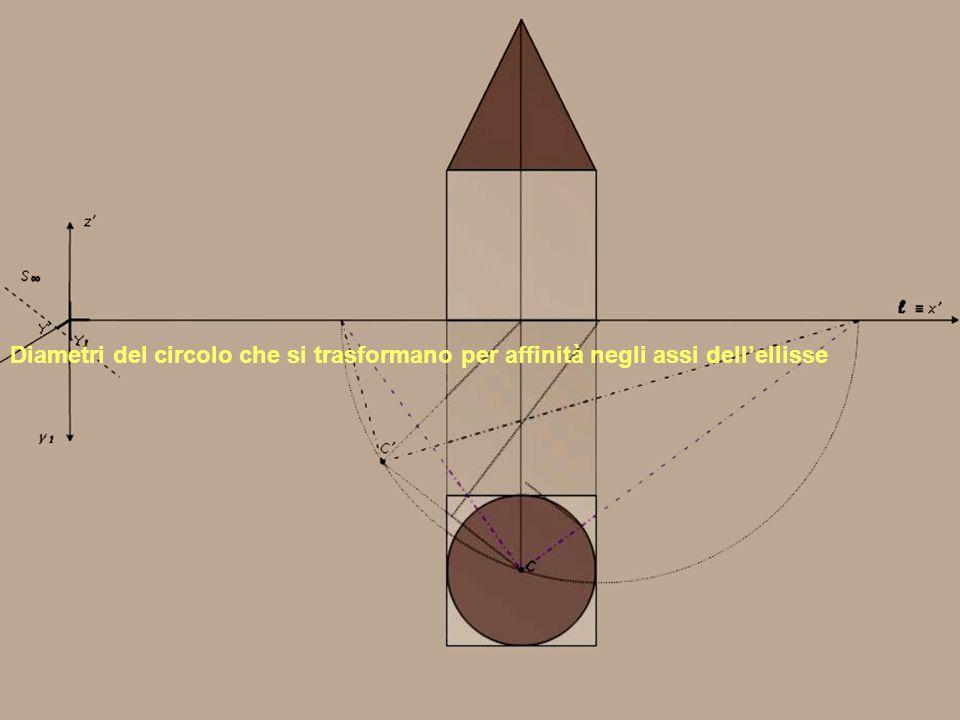 Diametri del circolo che si trasformano per affinità negli assi dell'ellisse