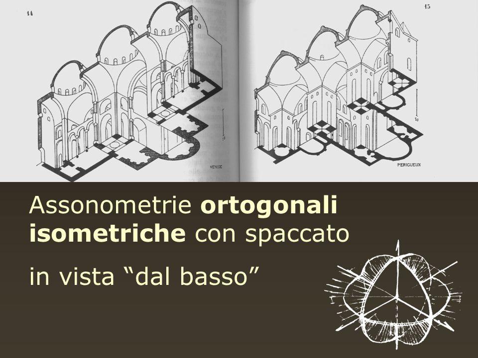 Assonometrie ortogonali isometriche con spaccato