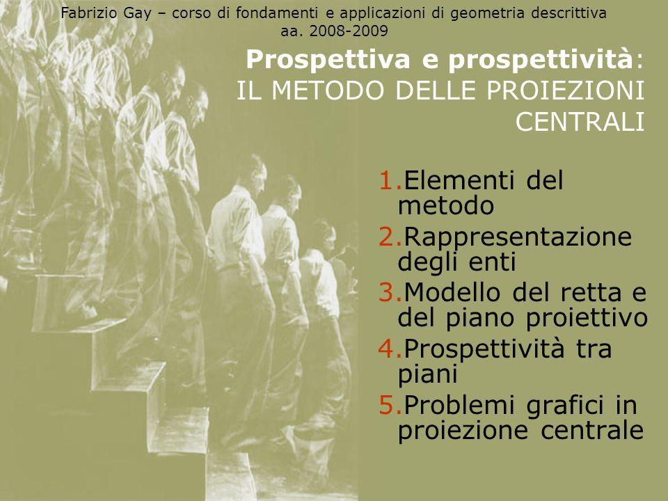 Prospettiva e prospettività: IL METODO DELLE PROIEZIONI CENTRALI