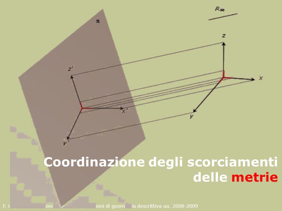 Coordinazione degli scorciamenti delle metrie