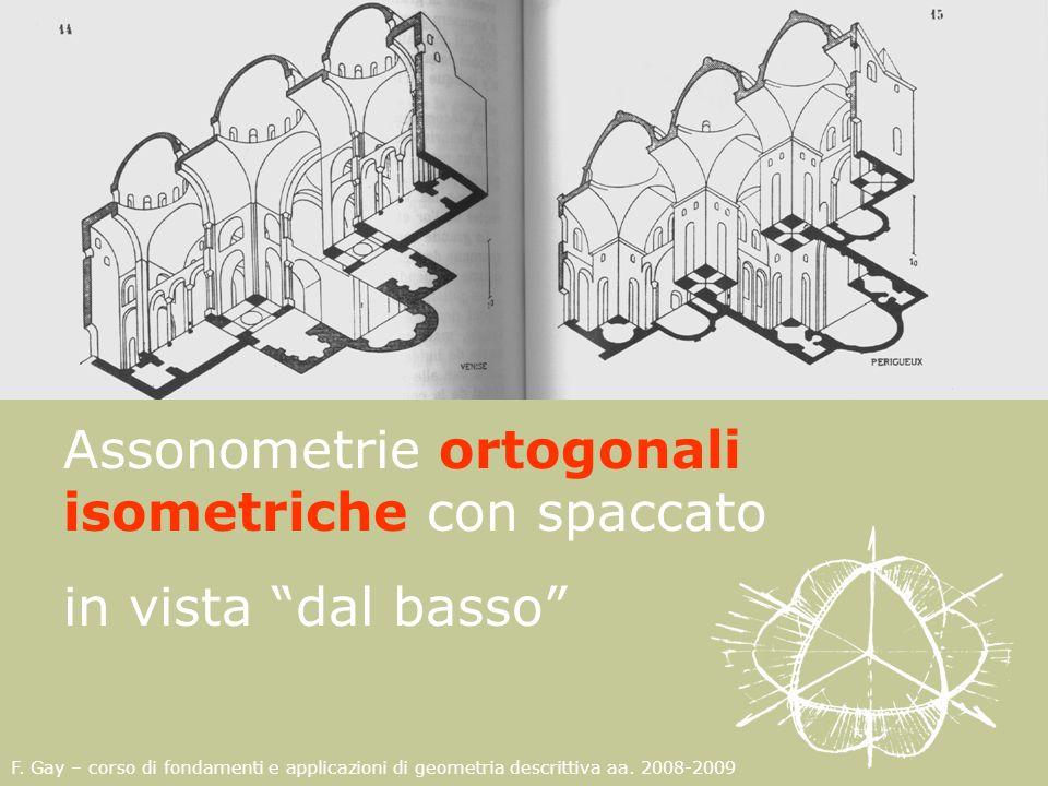Assonometrie ortogonali isometriche con spaccato in vista dal basso