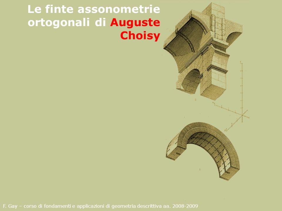 Le finte assonometrie ortogonali di Auguste Choisy