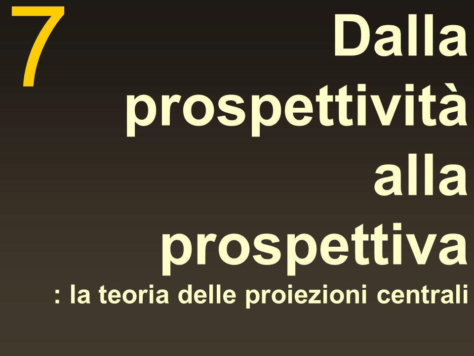 7 Dalla prospettività alla prospettiva : la teoria delle proiezioni centrali