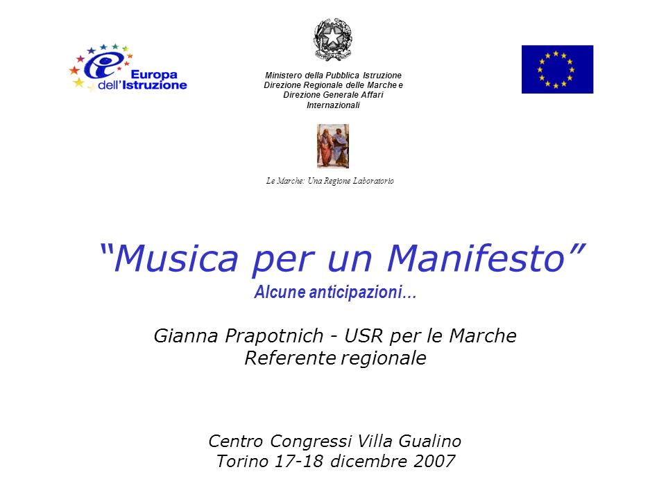 Musica per un Manifesto