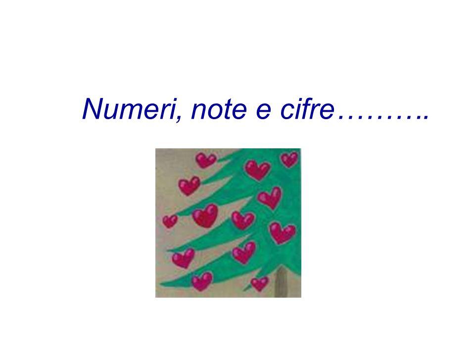 Numeri, note e cifre……….
