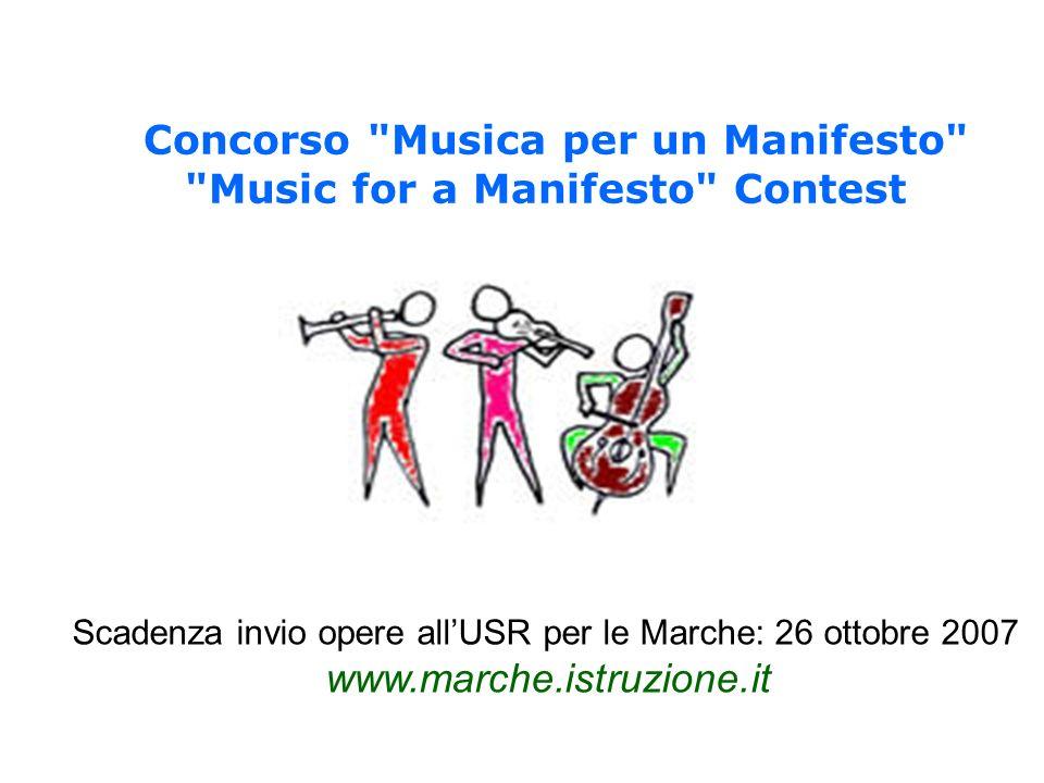 Concorso Musica per un Manifesto Music for a Manifesto Contest