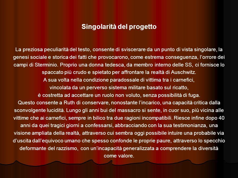Singolarità del progetto
