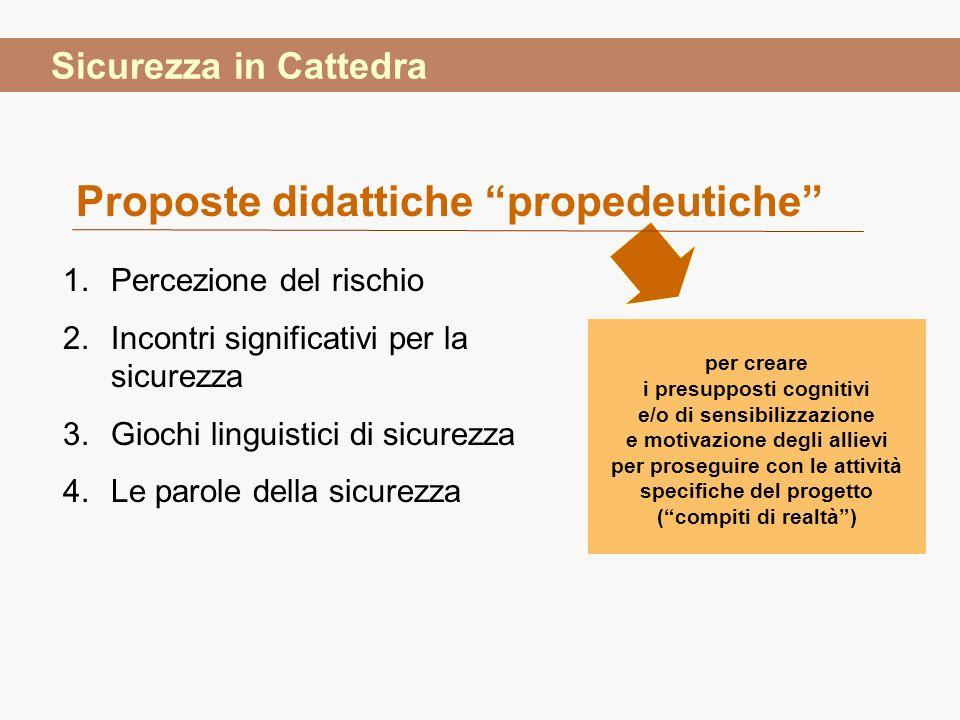 Proposte didattiche propedeutiche