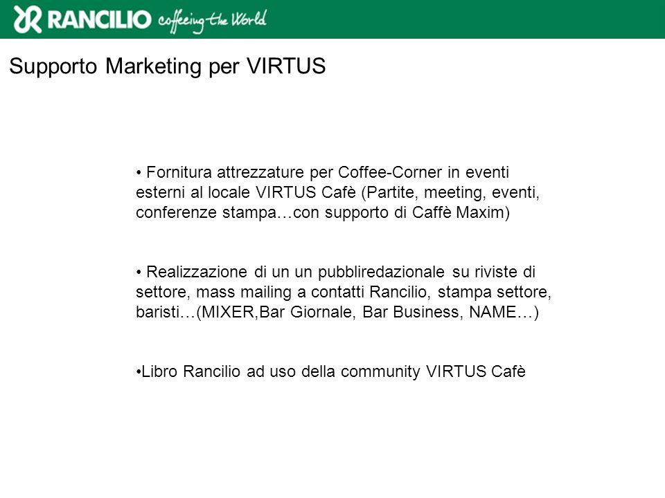 Supporto Marketing per VIRTUS