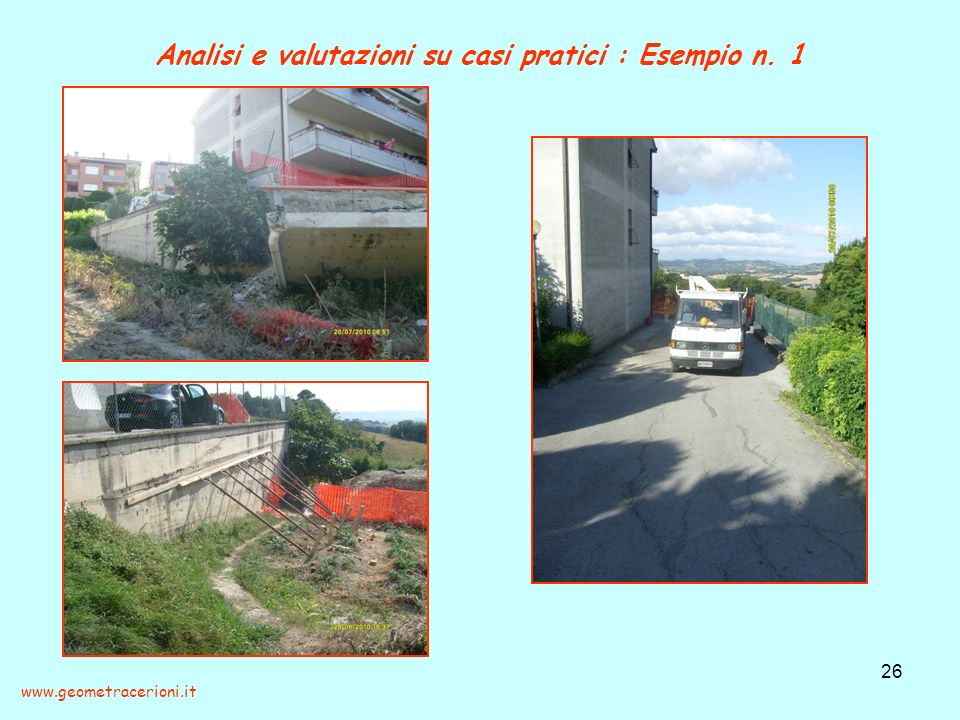 Analisi e valutazioni su casi pratici : Esempio n. 1