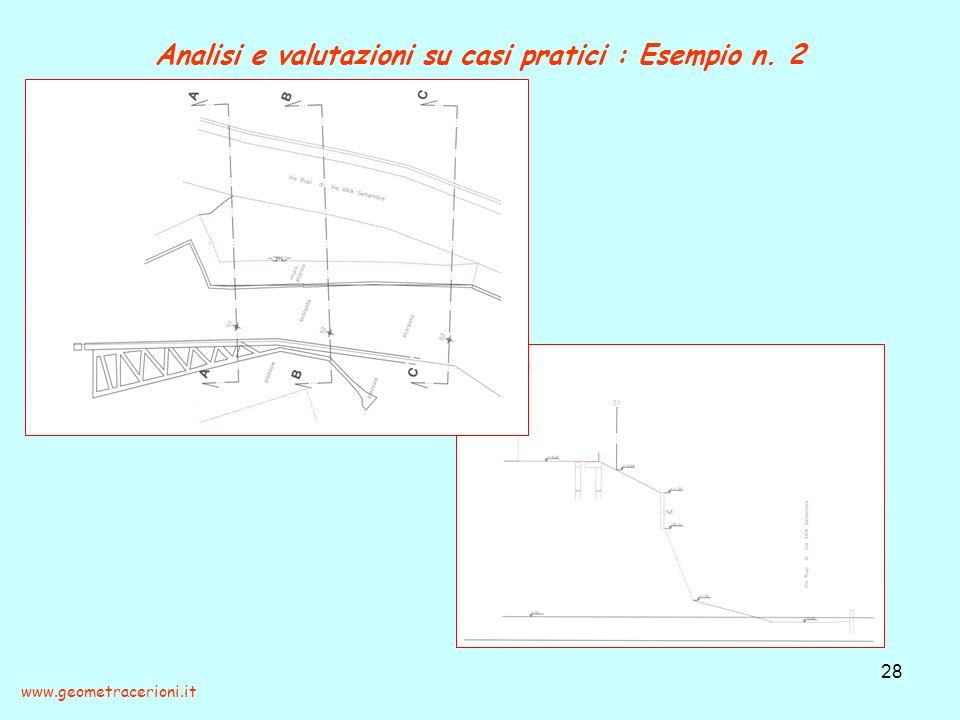Analisi e valutazioni su casi pratici : Esempio n. 2
