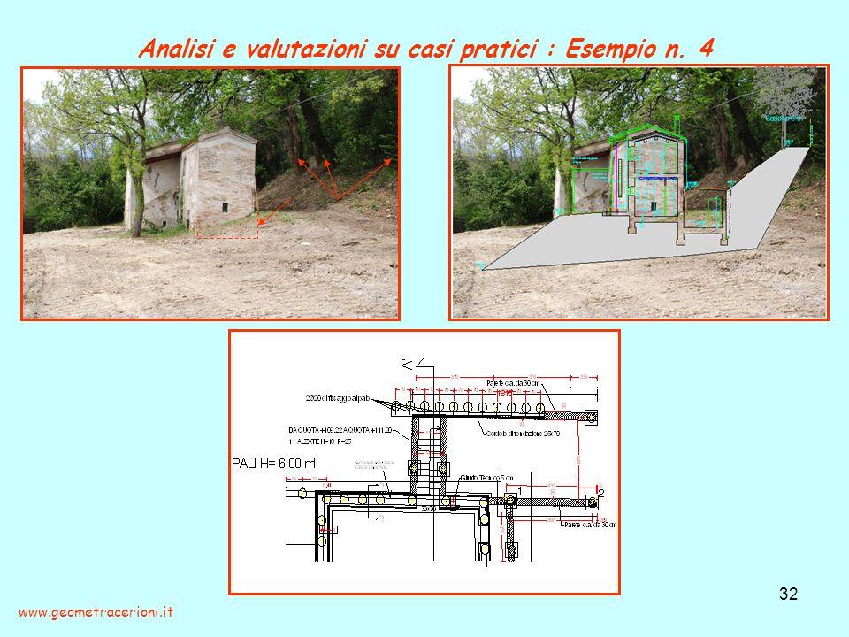 Analisi e valutazioni su casi pratici : Esempio n. 4