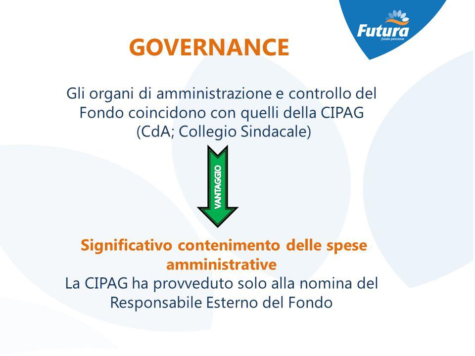 Significativo contenimento delle spese amministrative