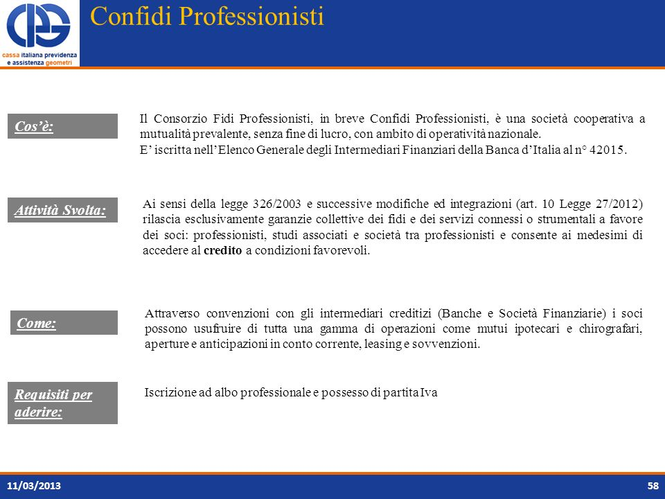 Confidi Professionisti