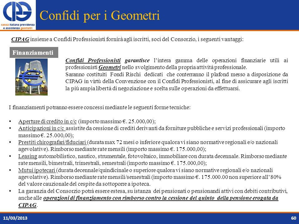 Confidi per i Geometri Finanziamenti