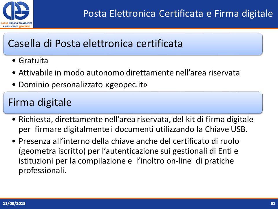 Posta Elettronica Certificata e Firma digitale