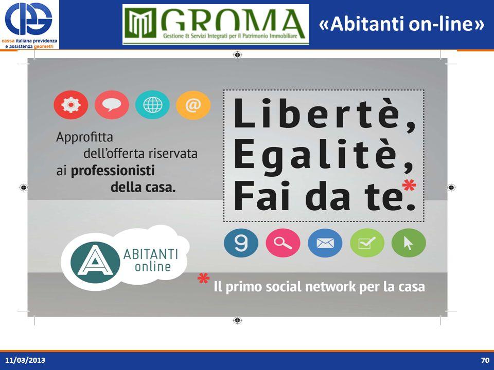 «Abitanti on-line» 11/03/2013