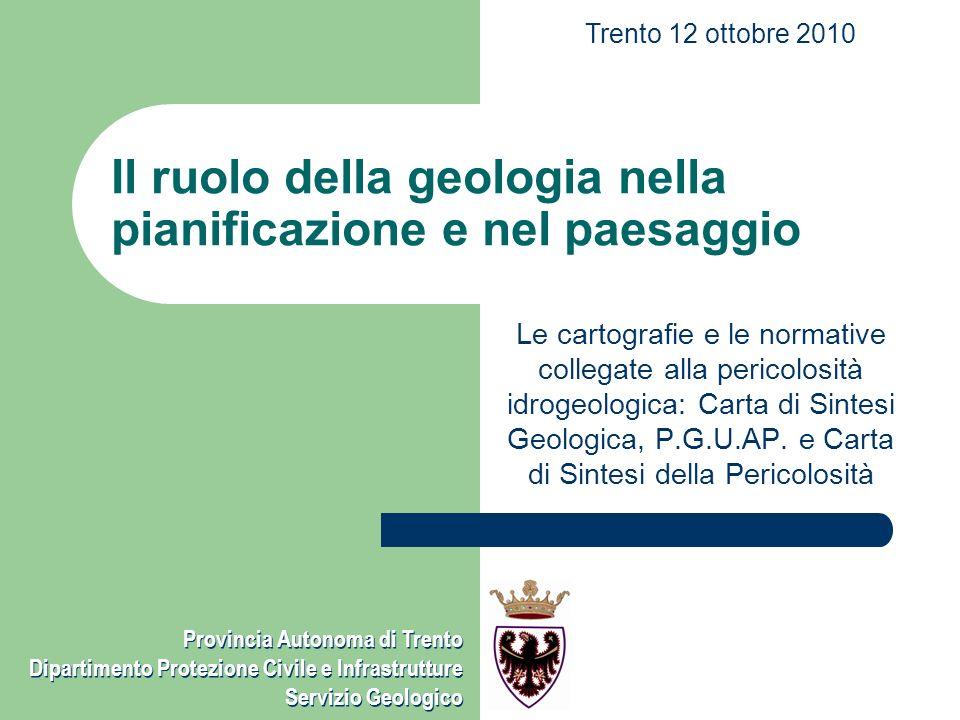 Il ruolo della geologia nella pianificazione e nel paesaggio