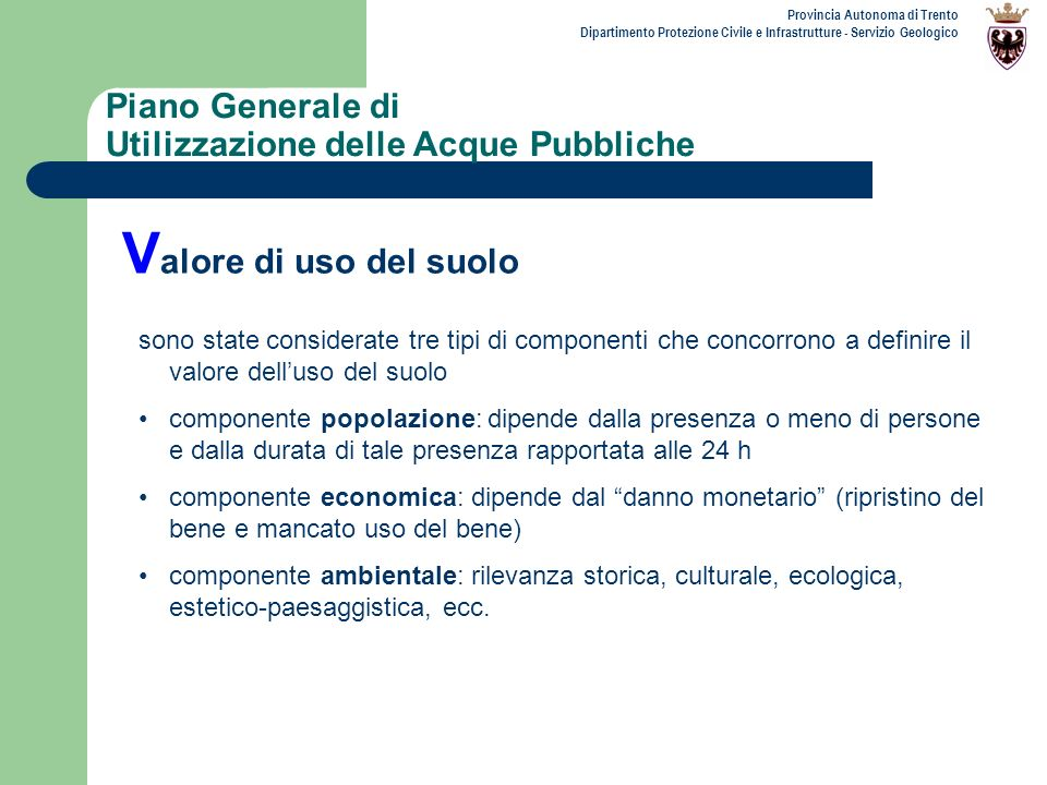Piano Generale di Utilizzazione delle Acque Pubbliche