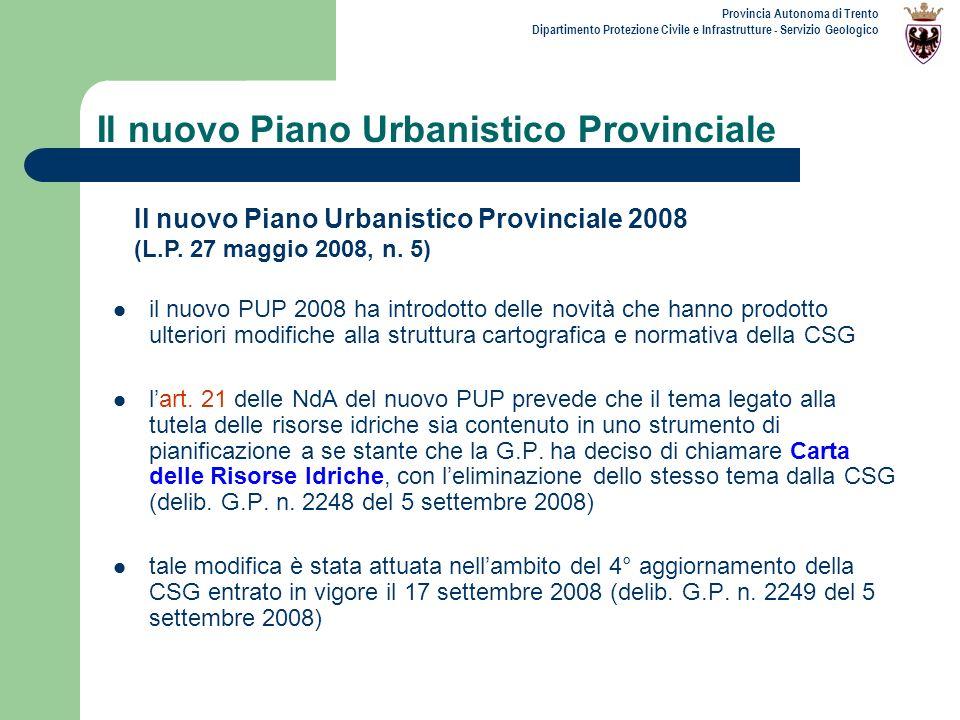 Il nuovo Piano Urbanistico Provinciale