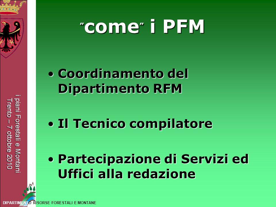 Coordinamento del Dipartimento RFM