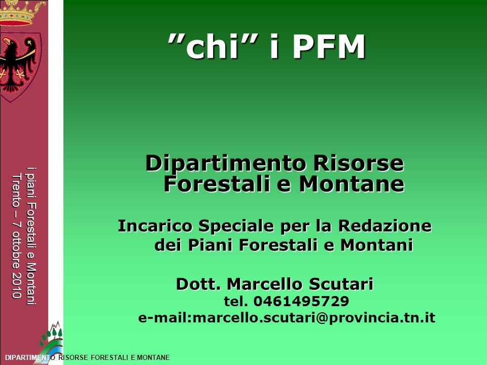 chi i PFM Dipartimento Risorse Forestali e Montane
